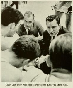 Dean Smith coaching in 1964