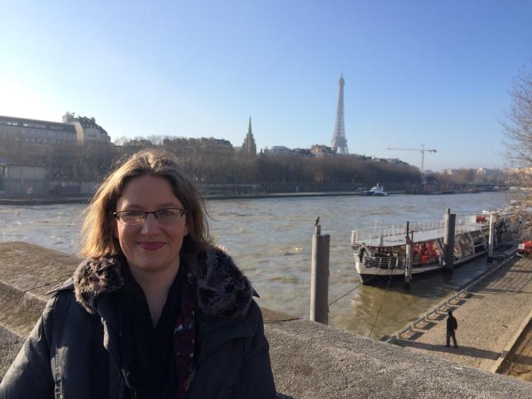 Katie on the Seine