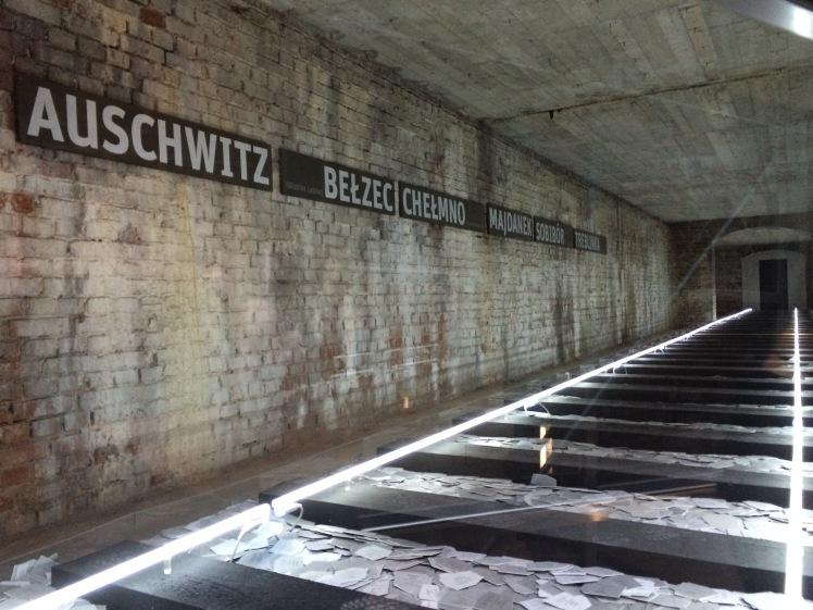 Train exhibit at Nazi Documentation Centre in Nuremberg