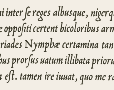 16th century example of italics
