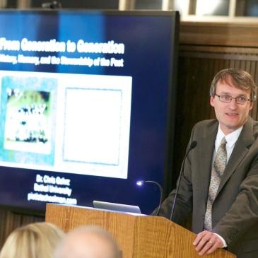 Photo of Chris speaking in Oct. 2015