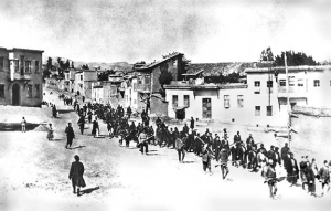 Armenians being deported in April 1915