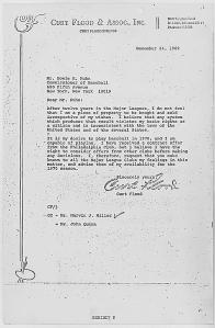 Flood letter to Kuhn - 12/24/1969