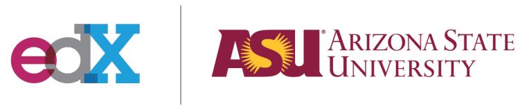 edX and Arizona State logos