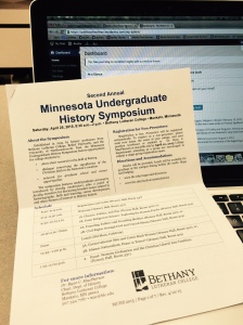 Program for the 2015 Minnesota Undergraduate History Symposium