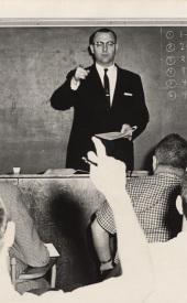John whitcomb calling on student