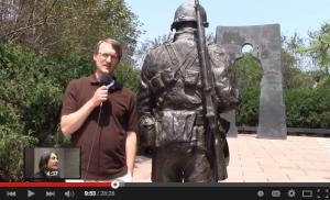 Screen shot from Past & Presence: the Minnesota Korean War Memoriall