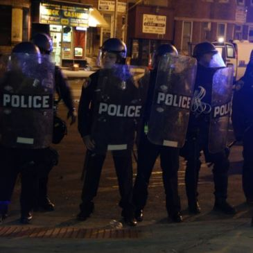 Baltimore riot police earlier this week