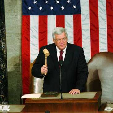 Dennis Hastert as Speaker of the U.S. House of Representatives