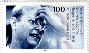 1995 German stamp of Dietrich Bonhoeffer