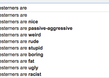 """Google search: """"Midwesterners are..."""""""