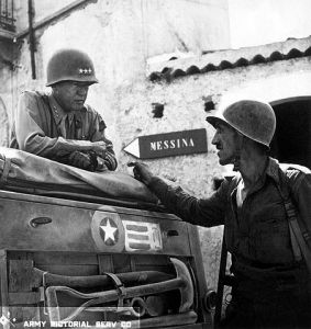 Gen. Patton on Sicily, 1943
