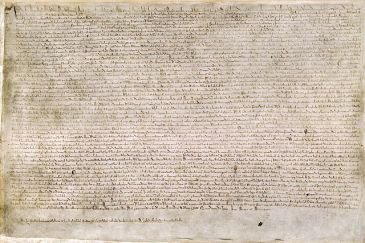 Extant copy of the 1215 Magna Carta