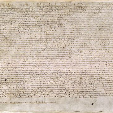Extant copy of the 1215 Magna Carta