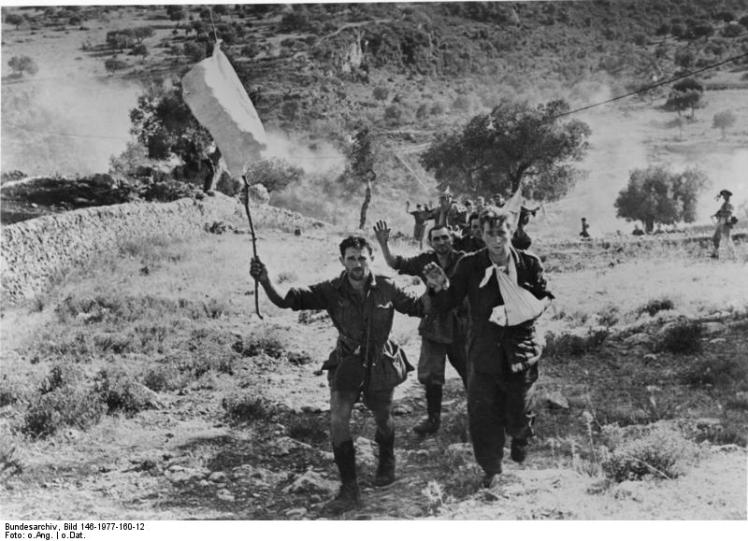 Italians surrendering on Sicily in 1943