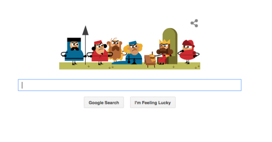 Google Doodle of the Magna Carta