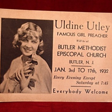 Ad for Uldine Utley sermon