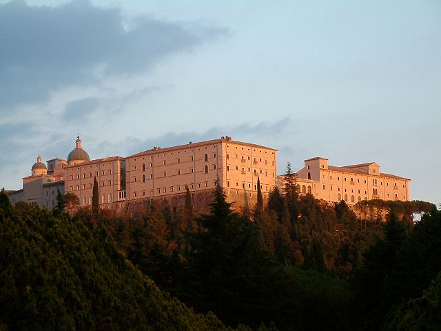 The rebuilt Benedictine monastery at Monte Cassino