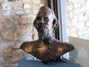 Nathan B. Forrest bust at Tennessee's Forrest State Park