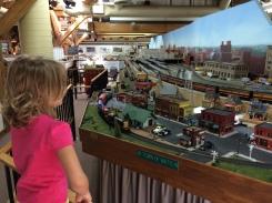 My daughter trainwatching