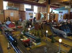 """In the museum's """"Toy Train Division"""""""