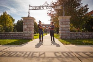 Goshen College gate