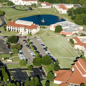 Aerial view of the Oklahoma Wesleyan University campus