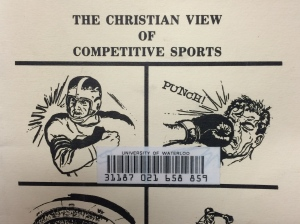 Detail of the cover of Border, The Christian View of Competitive Sports