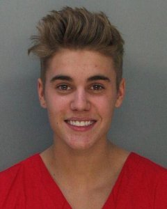 Justin Bieber's booking shot