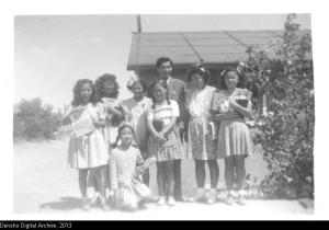 Sunday School class in the Poston concentration camp