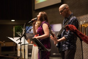 Contemporary worship at Salem Covenant Church