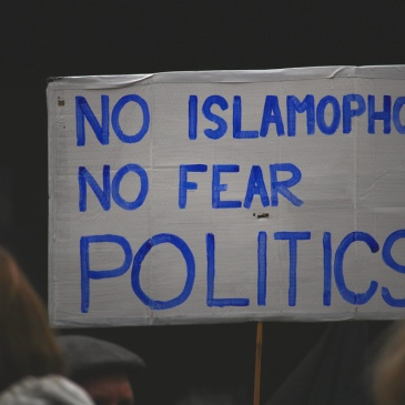 """No Islamophobia. No Fear. Politics"""