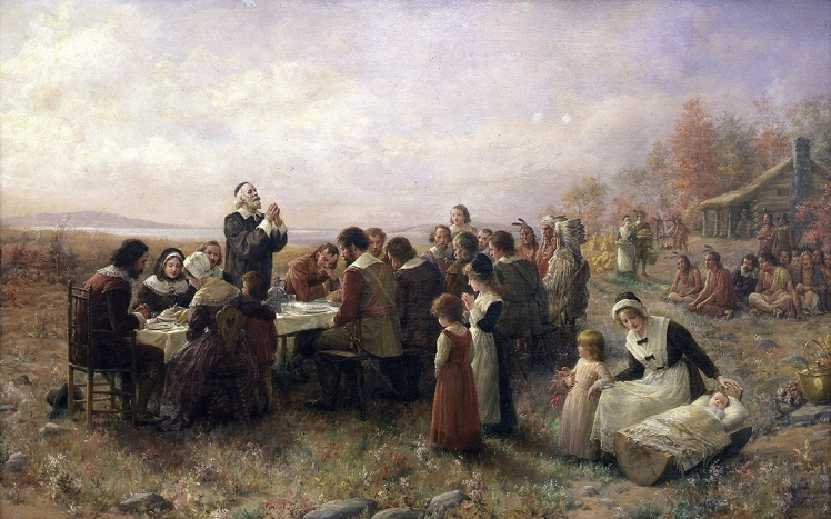 """Branscombe, """"The First Thanksgiving at Plymouth"""""""