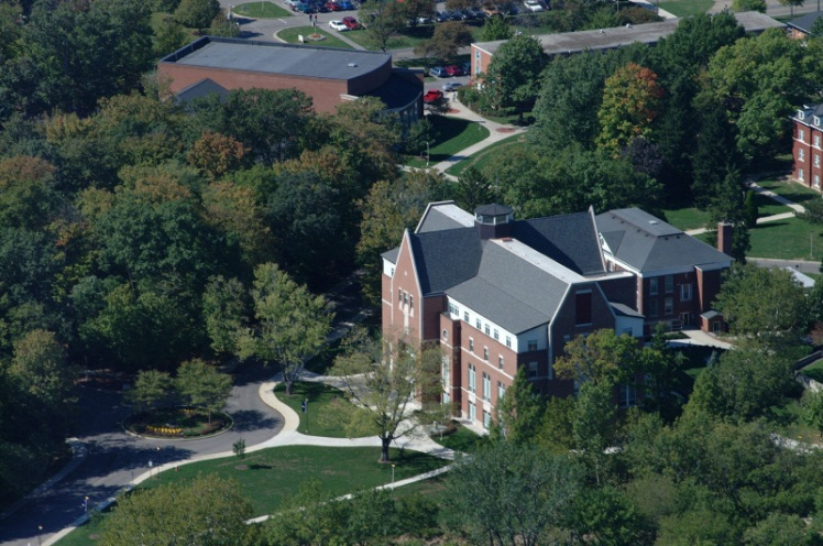Aerial view of Bluffton University