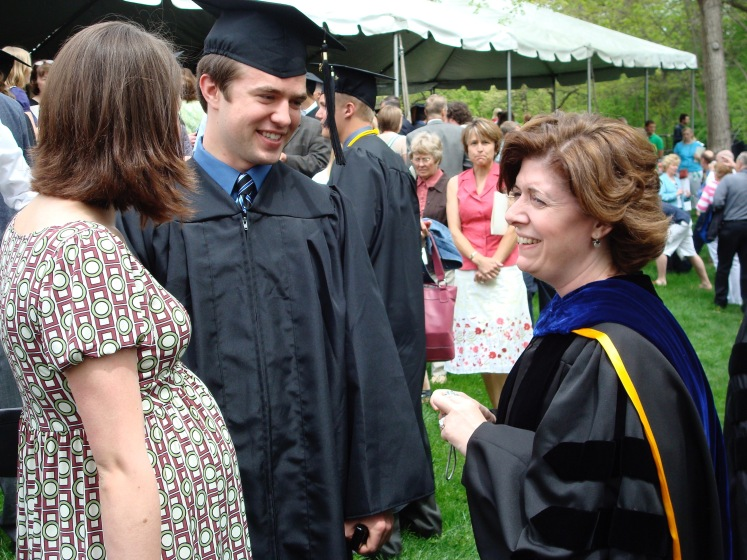 Stacey at commencement in 2008
