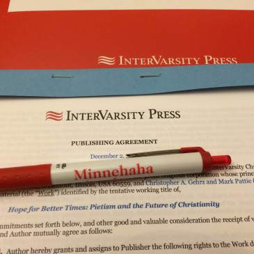 Contract with IVP for Hope for Better Times: Pietism and the Future of Christianity