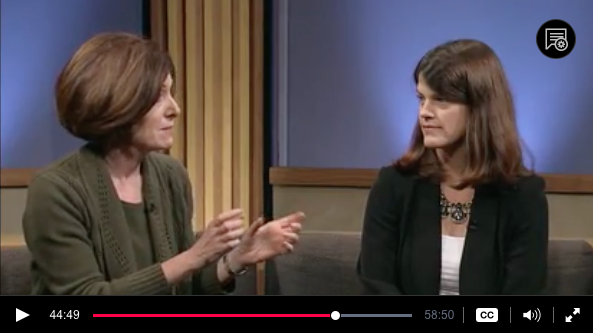 Stacey with Kathryn Pearson on TPT's Almanac, Dec. 2014