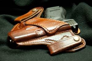 Holstered pistol