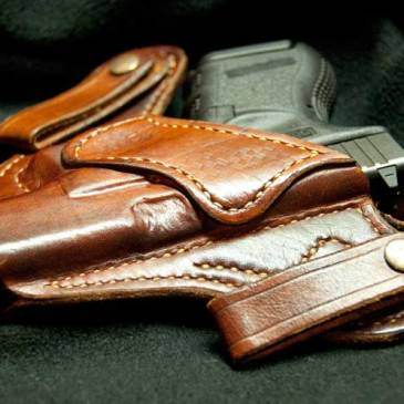 Holstered pistol