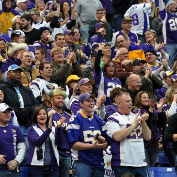 Vikings fans at a 2013 game