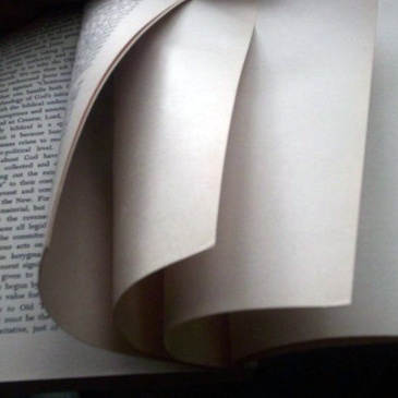 Book turning to blank pages