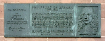Memorial plaque for Phillip Spener