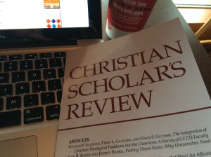 Winter 2016 issue of Christian Scholar's Review