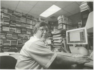 GW Carlson in his office