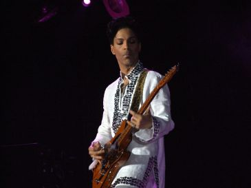Prince performing in 2008