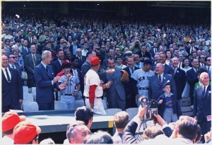 Ted Williams with Richard Nixon at Opening Day, 1969