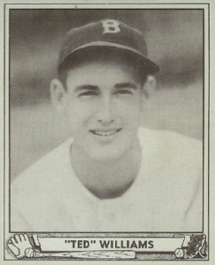 Ted Williams 1940 baseball card
