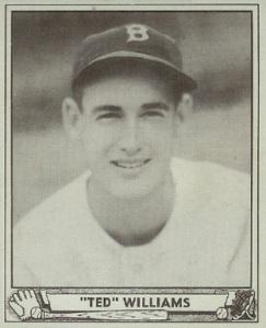 Ted Williams 1940 baseball card