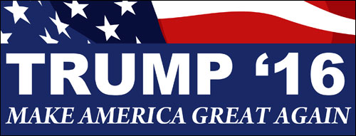 "Trump bumper sticker: ""Make America Great Again"""