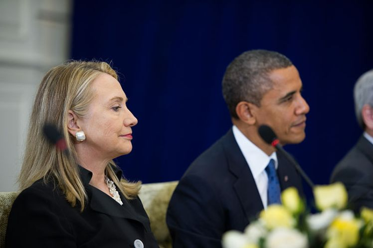 Clinton and Obama, 2012